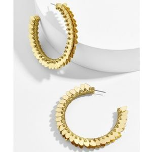 🆕 BaubleBar •Fiona• Hoop Earrings •Gold•